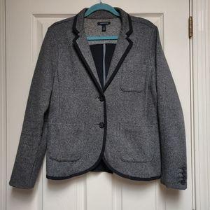 Lands' End Knit Twill Herringbone Jacket Blazer 14
